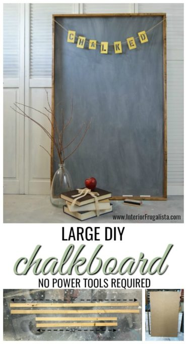 How to make a Large DIY Chalkboard - Best of the Weekend Feature for June 1, 2018
