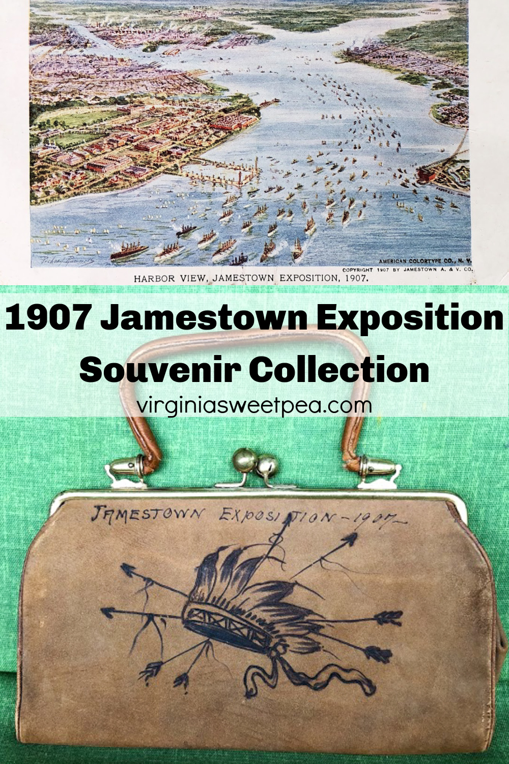 Souvenir Collection from the 1907 Jamestown Exposition - See unique souvenirs from the Jamestown Exposition in 1907 saved by my family.  #jamestownexposition #1907 #jamestown via @spaula