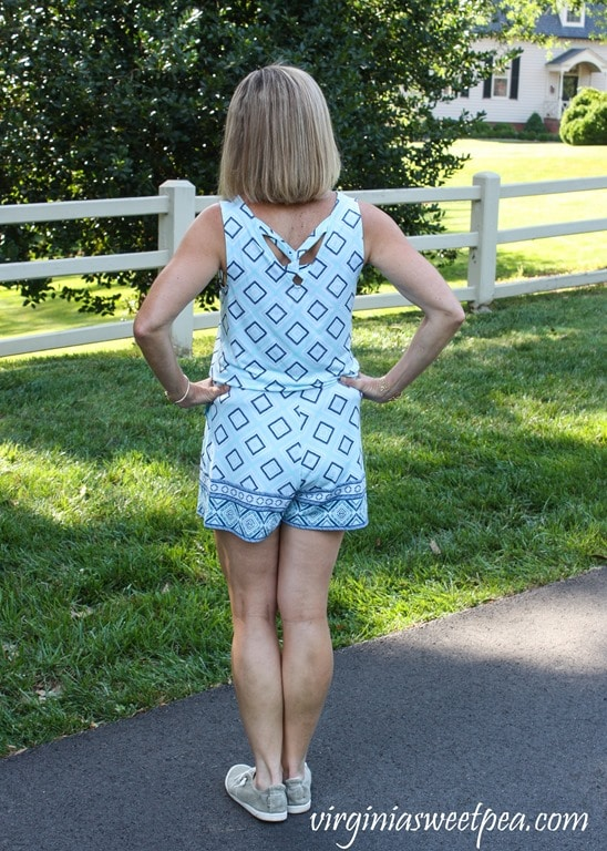 Stitch Fix Review for July 2018 - Market & Spruce Ashlynn Knit Romper #stitchfix #stitchfixsummer #summerfashion #fashionover40