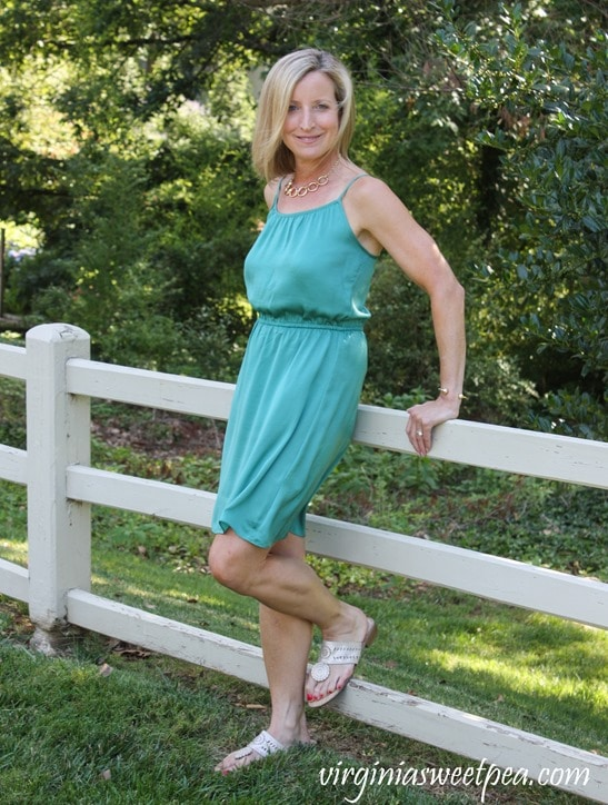 Stitch Fix Review for July 2018 - Market & Spruce Kadisha Satin Dress #stitchfix #stitchfixsummer #summerfashion #fashionover40