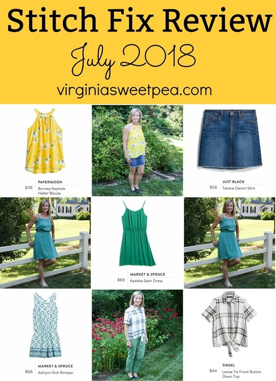 Stitch Fix Review for July 2018 - See which five items my stylist sent this month, all perfect for summer. #stitchfix #stitchfixsummer #summerfashion #fashionover40