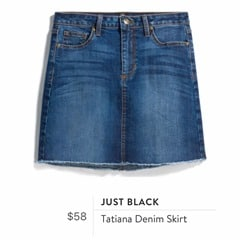 Stitch Fix Review for July 2018 - Just Black Tatiana Denim Skirt