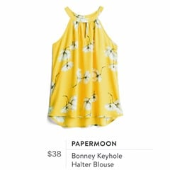 Stitch Fix Review for July 2018 - Papermoon Bonney Keyhole Halter Blouse