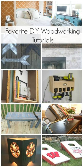 Favorite DIY Woodworking Tutorials from Bloggers - Learn how to make each of these projects by following each step-by-step tutorial. #woodworking #diyproject #diy #woodworkingproject