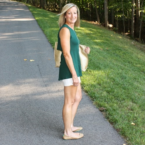 Stitch Fix Review for August 2018 - Market & Spruce Benah Open Back French Terry Knit Top #stitchfix #stitchfixreview #stitchfixathleisure #athleisure #fashionover40