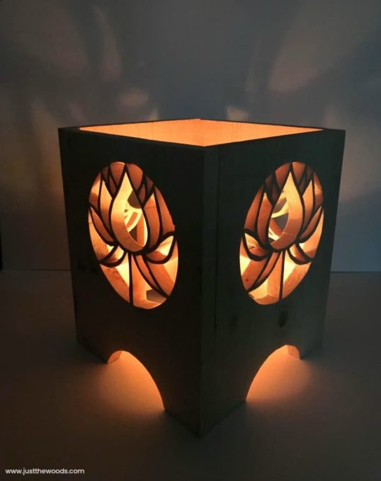 DIY Scroll Saw Lantern - Learn how to make this gorgeous lantern using a scroll saw. So pretty! #woodworking #scrollsawproject