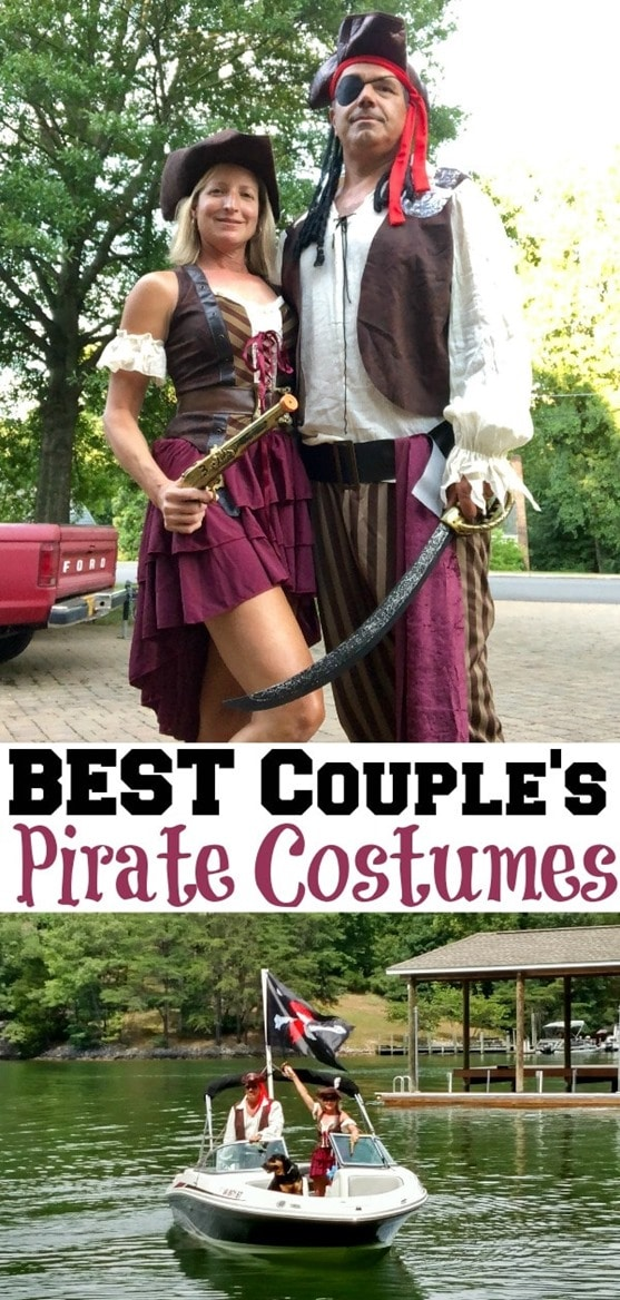 Best Pirate Costumes for Couples - Get sources to dress like a pirate for a party or for Halloween. #smithmountainlake #sml #piratedays #smlpiratedays #halloween #piratecostume #halloweencostume