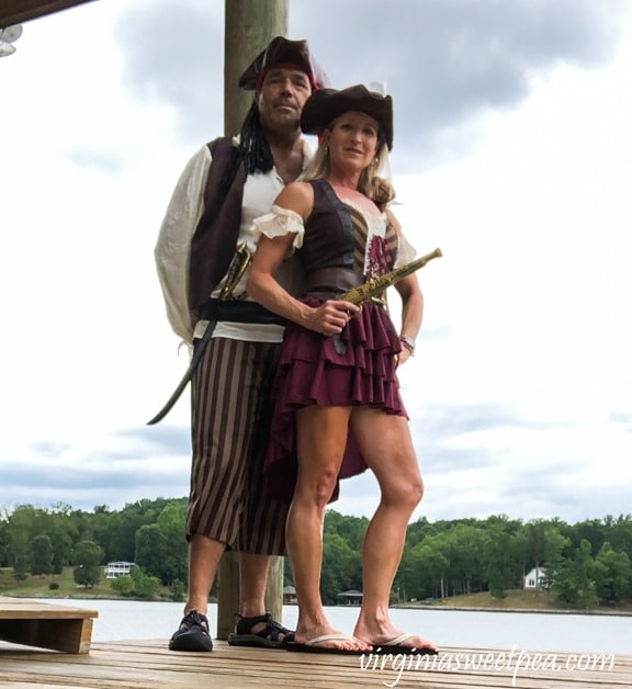 Couples Pirate Costume for Pirate Days at Smith Mountain Lake - #smithmountainlake #sml #piratedays #smlpiratedays