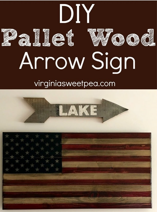 DIY Pallet Wood Arrow Sign - Make a Pallet Wood Arrow Lake Sign following a step-by-step tutorial. #DIY #DIYwoodarrow #woodarrow #palletwoodarrow #palletproject #smithmountainlake