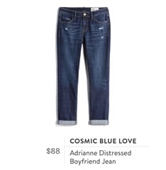 Cosmic Blue Love Adrianne Distressed Boyfriend Jean