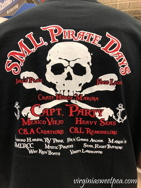 Smith Mountain Lake Pirate Days T-Shirt #smithmountainlake #sml #piratedays #smlpiratedays