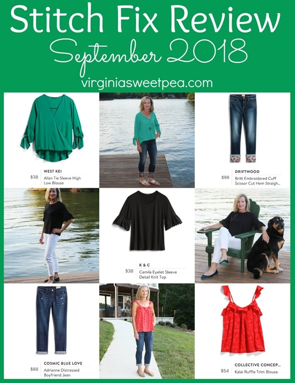 Stitch Fix Review for September 2018 - See styles perfect for transitioning from summer to fall. #stitchfix #stitchfixreview #fashionover40