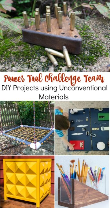 Get ideas for DIY projects that you can make using unconventional building materials. Follow the step-by-step tutorials to make these projects. #diy #woodworking #diyproject