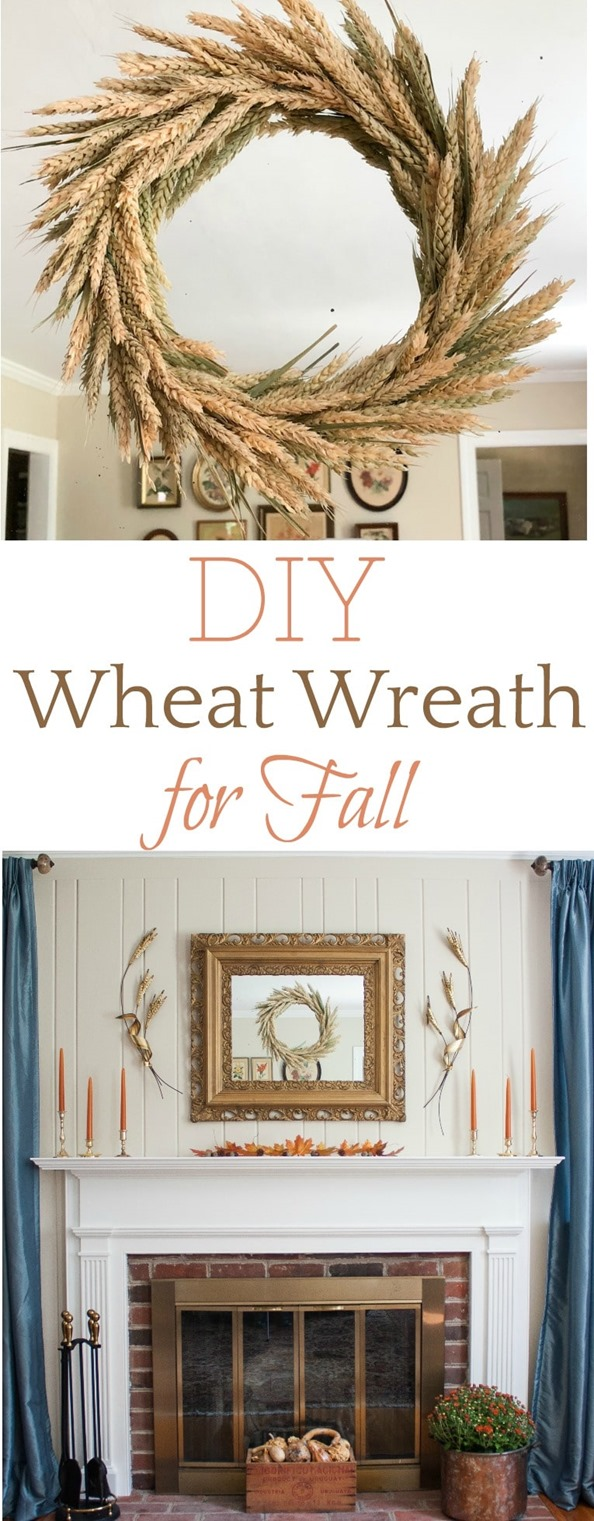 DIY Wheat Wreath for Fall - Make a wheat wreath for your home by following this step-by-step tutorial. #fall #fallwreath #falldecor #fallcraft #wheat #wheatwreath