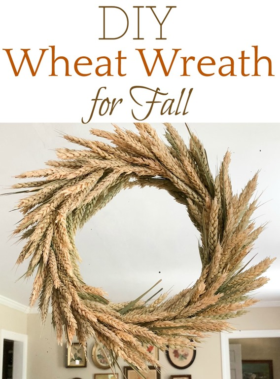 Wreath made using wheat.
