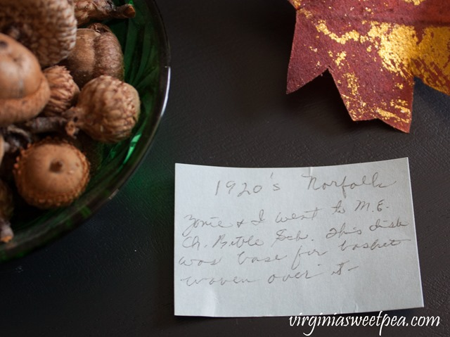 Granny's Note with Vintage Green Bowl