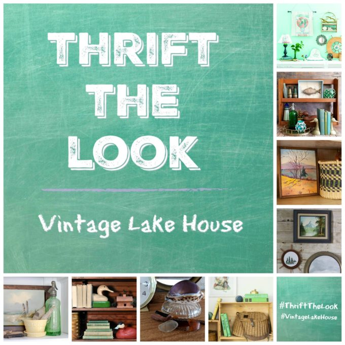 Thrift the look - Eight bloggers share how to shop thrift stores to get a Vintage Lake House look.