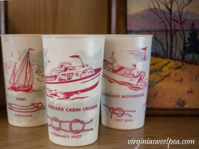 Vintage Lake House Thrift the Look - Vintage nautical cups #vintage #vintagedecor #thriftthelook