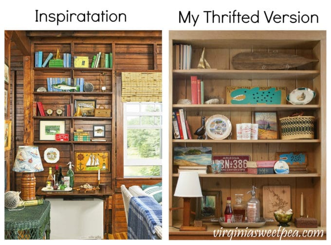 Learn how to shop thrift shops to get the look seen in a magazine inspiration photo.