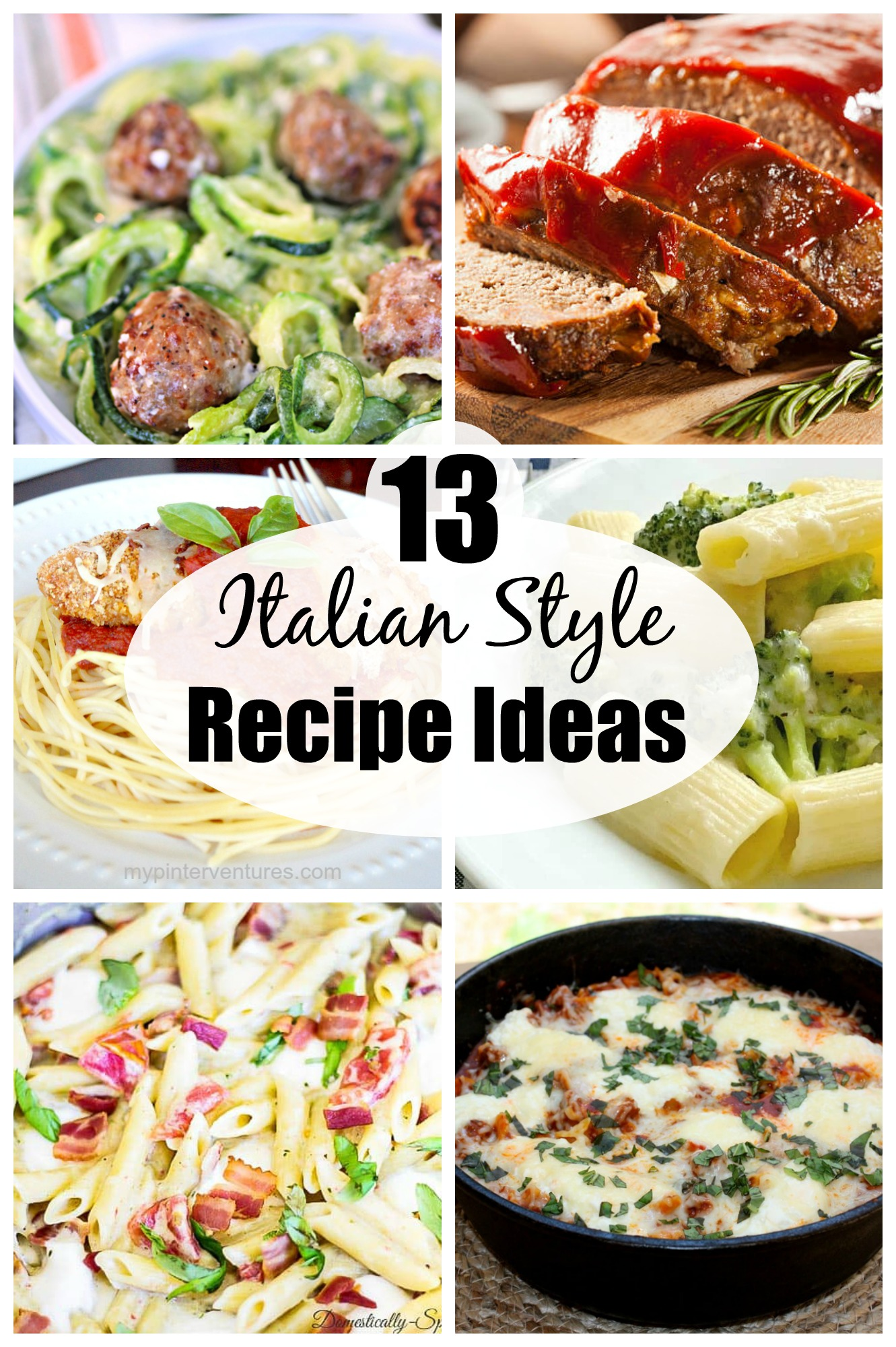 13 Italian Style Recipe Ideas - Looking for a dinner idea?  Check out these delicious Italian style recipes!  #italianrecipe #italianstylefood  via @spaula