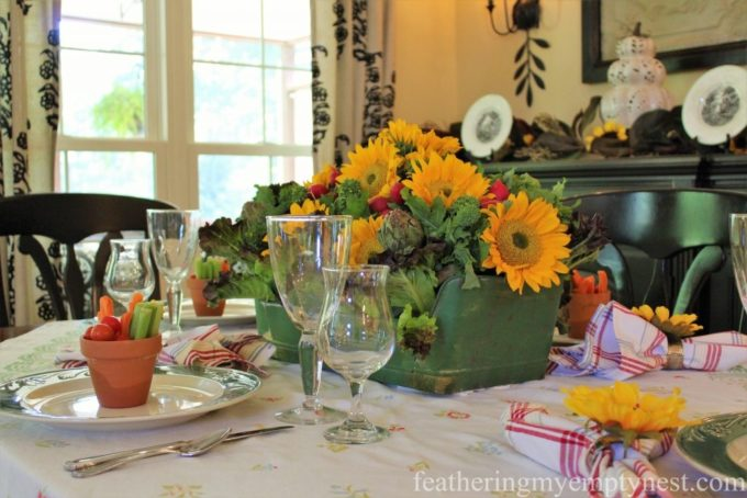Fall Harvest Tablescape by Feathering My Empty Nest - Best of the Weekend Feature for October 19, 2018