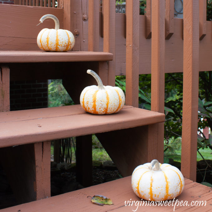 Fall Pumpkins on Steps #fall #falldecor #falloutdoors #pumpkins