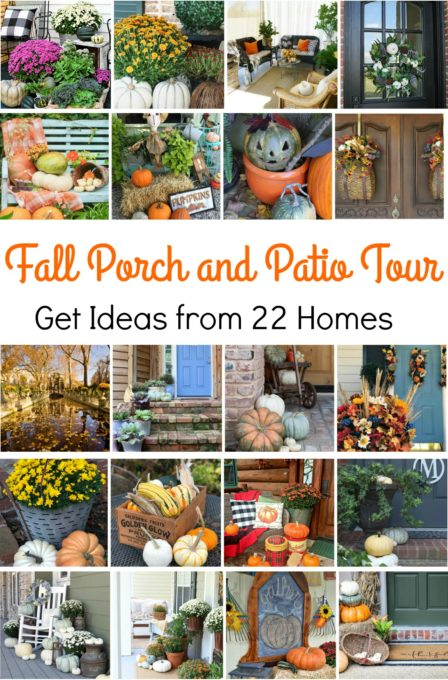 Fall Porch and Patio Tour - See 22 porches and patios decked out for fall.