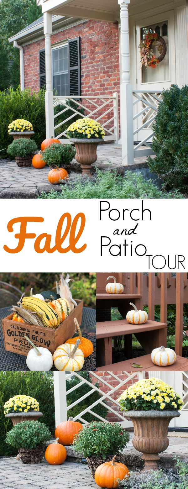 Fall Porch and Patio Tour - Tour dozens of outdoor spaces decked out for fall. #fall #falloutdoors #fallporch #fallpatio
