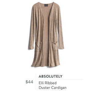 Absolutely Elli Ribbed Duster Cardigan