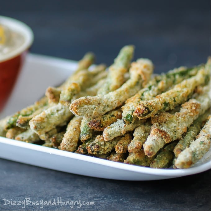 Crispy Baked Green Bean Fries - Best of the Weekend Party Feature for October 12, 2018
