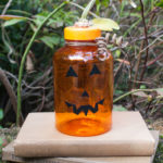 Upcycled Medicine Bottle Jack-o-Lantern