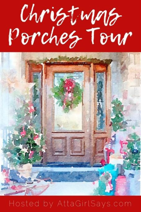 Get ideas for decorating your Christmas porch from 18 bloggers. #christmas #christmasdecor #christmasporchdecor #christmasporch #christmasdecorations #vintage #vintagechristmas