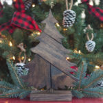 DIY Patchwork Wood Christmas Tree
