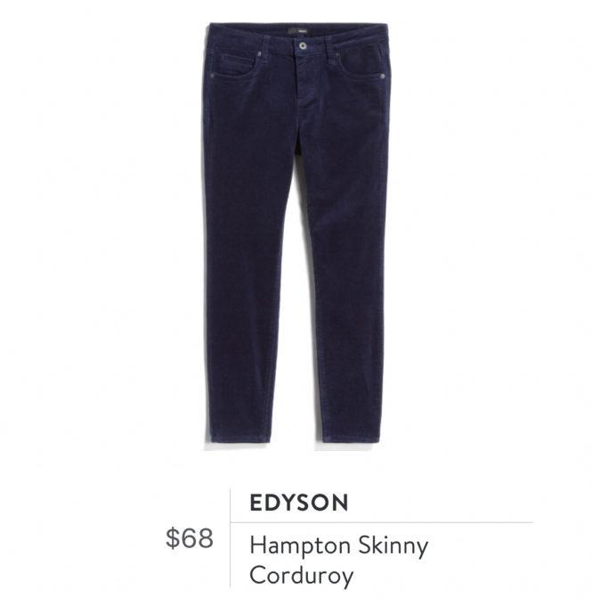 Edyson Hampton Skinny Corduroy