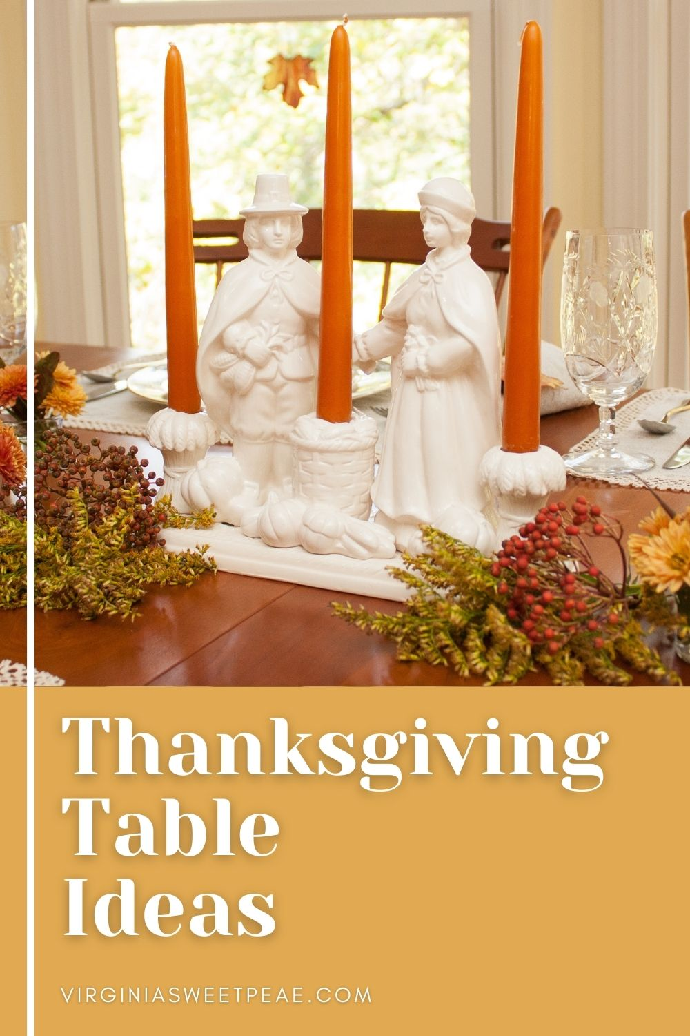 Thanksgiving Table Ideas - Get 20+ ideas for decorating a table for Thanksgiving. via @spaula