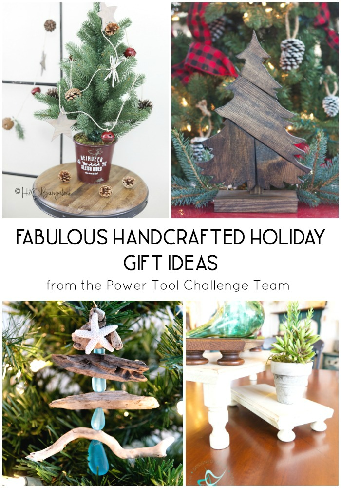 Handcrafted Wood Holiday Gift Ideas - Project ideas that you can make for yourself or for Christmas gifts.  #woodworking #christmas #DIYchristmas