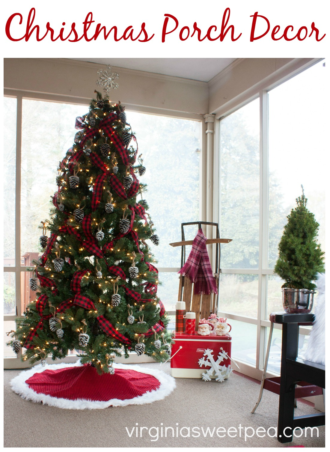 See a porch decorated for Christmas using mostly vintage decor and get ideas for decorating your Christmas porch from 18 bloggers.