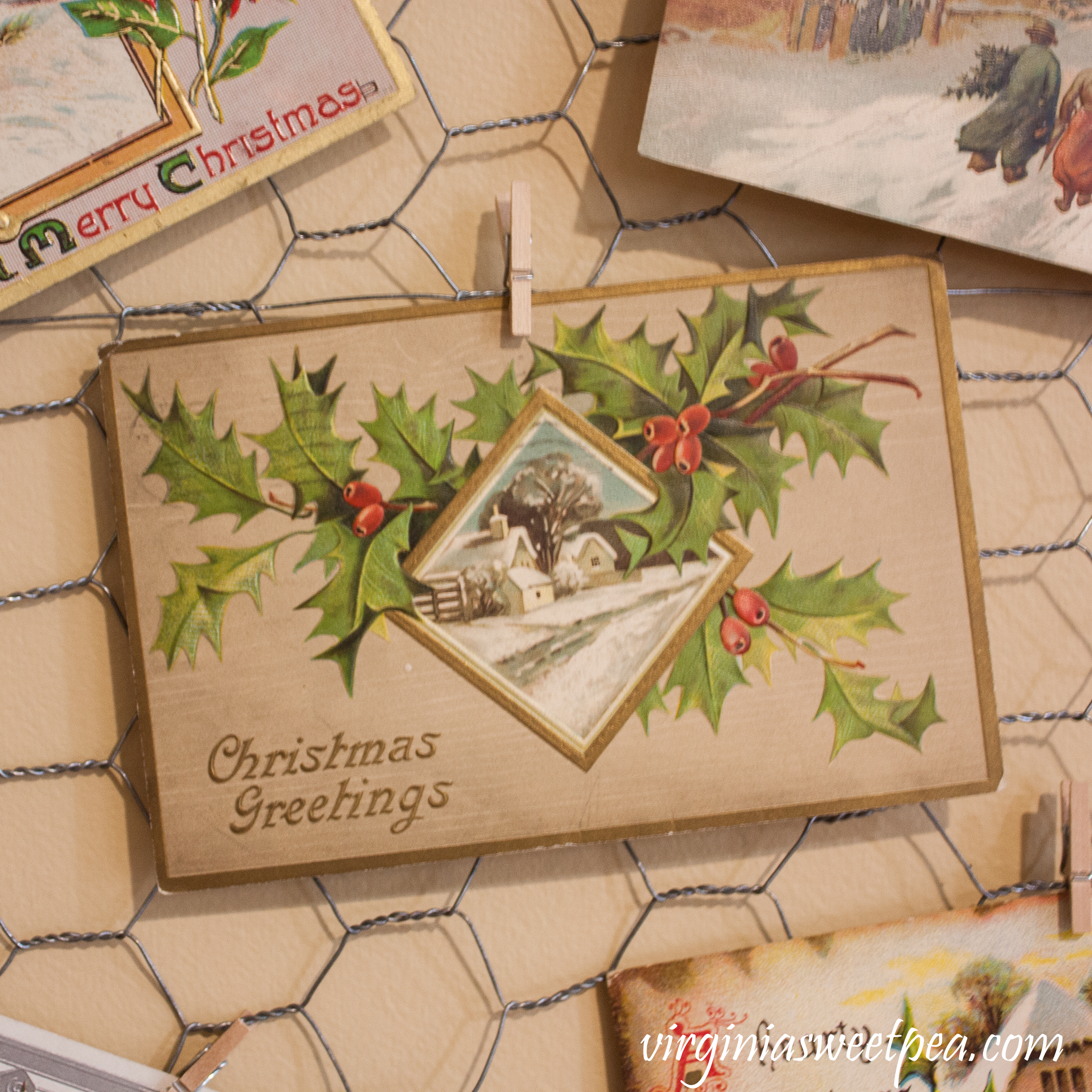 Vintage Christmas Postcard #vintage #vintagepostcard #vintagechristmaspostcard