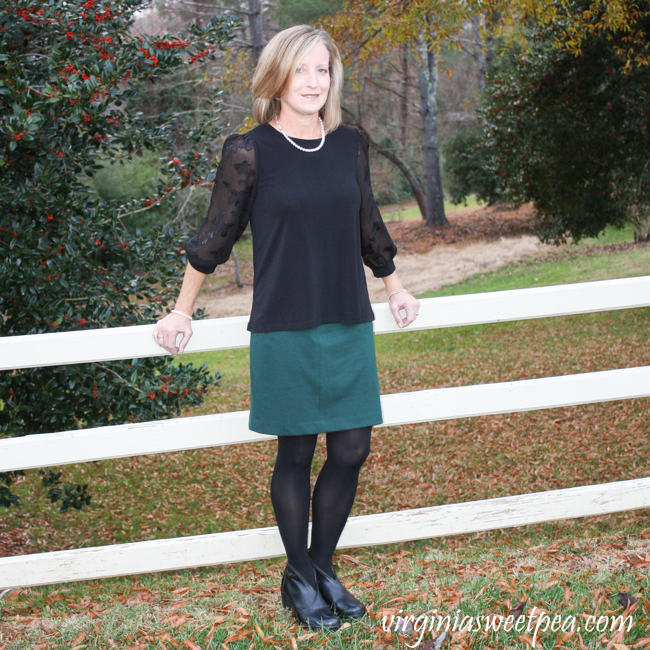 Stitch Fix Review for December 2018 - Cece Sportswear Lucillia Lace Sleeve Knit Top