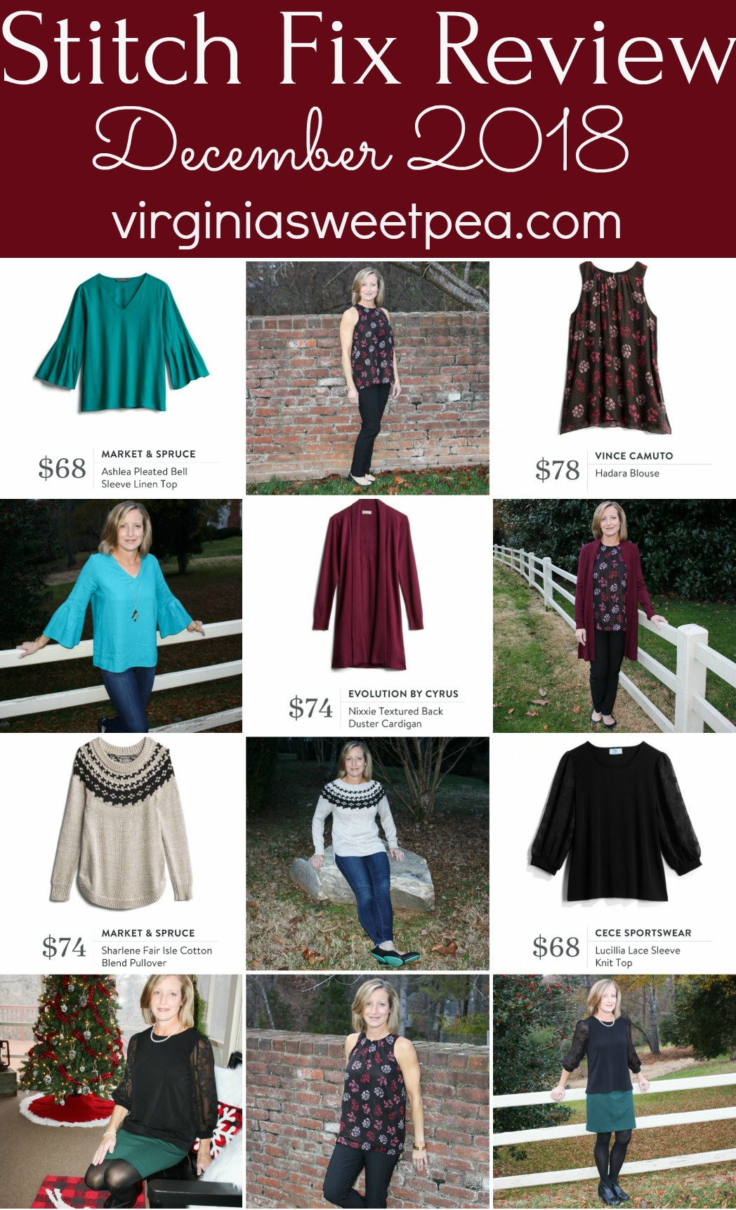 Stitch Fix Review for December 2018 - Fix #64 - See styles for winter and also for holiday wear. #stitchfix #stitchfixreview #decemberstitchfix