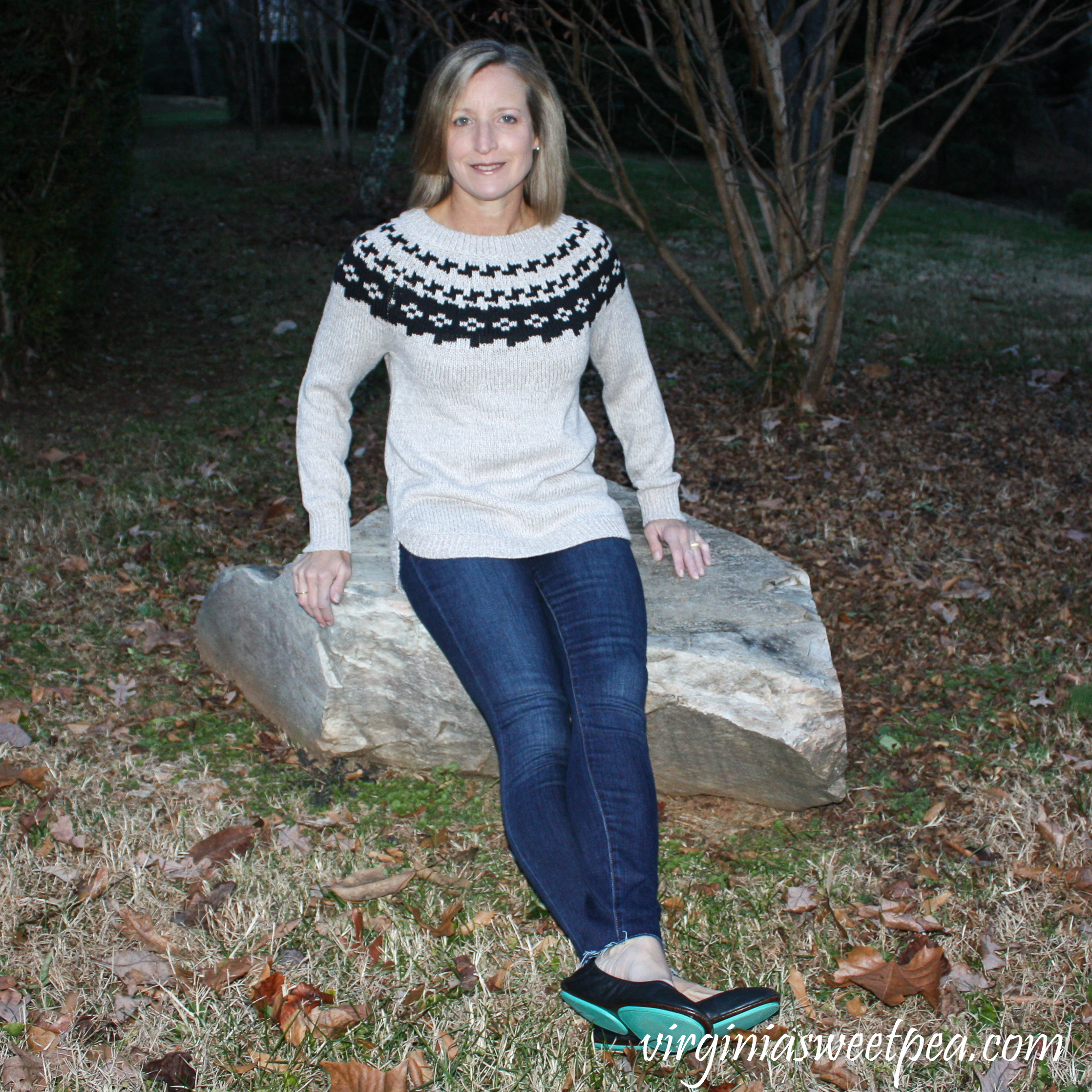 Stitch Fix Review for December 2018 - Market & Spruce Sharlene Fair Isle Cotton Blend Pullover