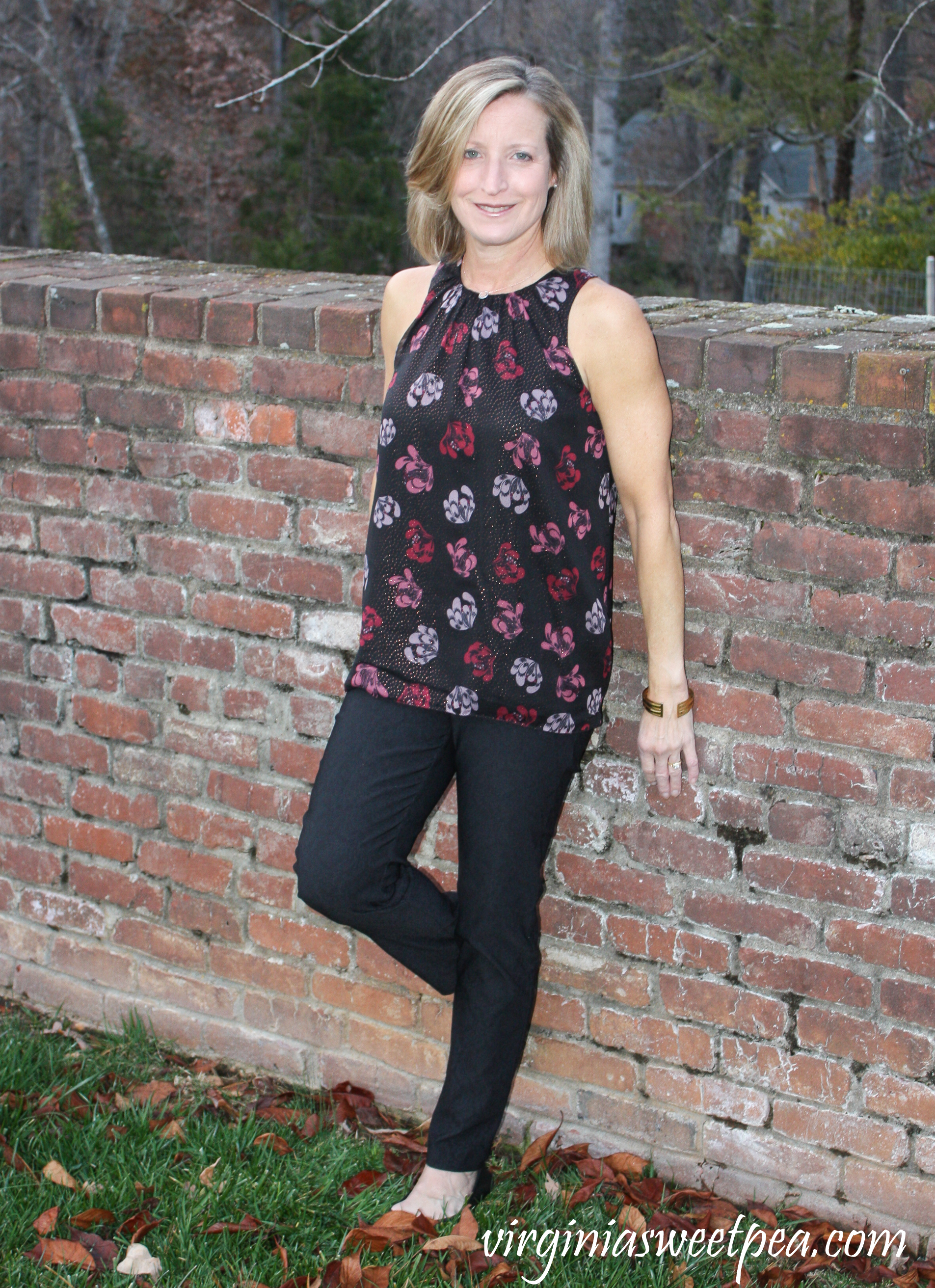 Stitch Fix Review for December 2018 - Vince Camuto Hadara Blouse