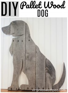 Learn how to make a decorative dog to hang or display using pallet wood.