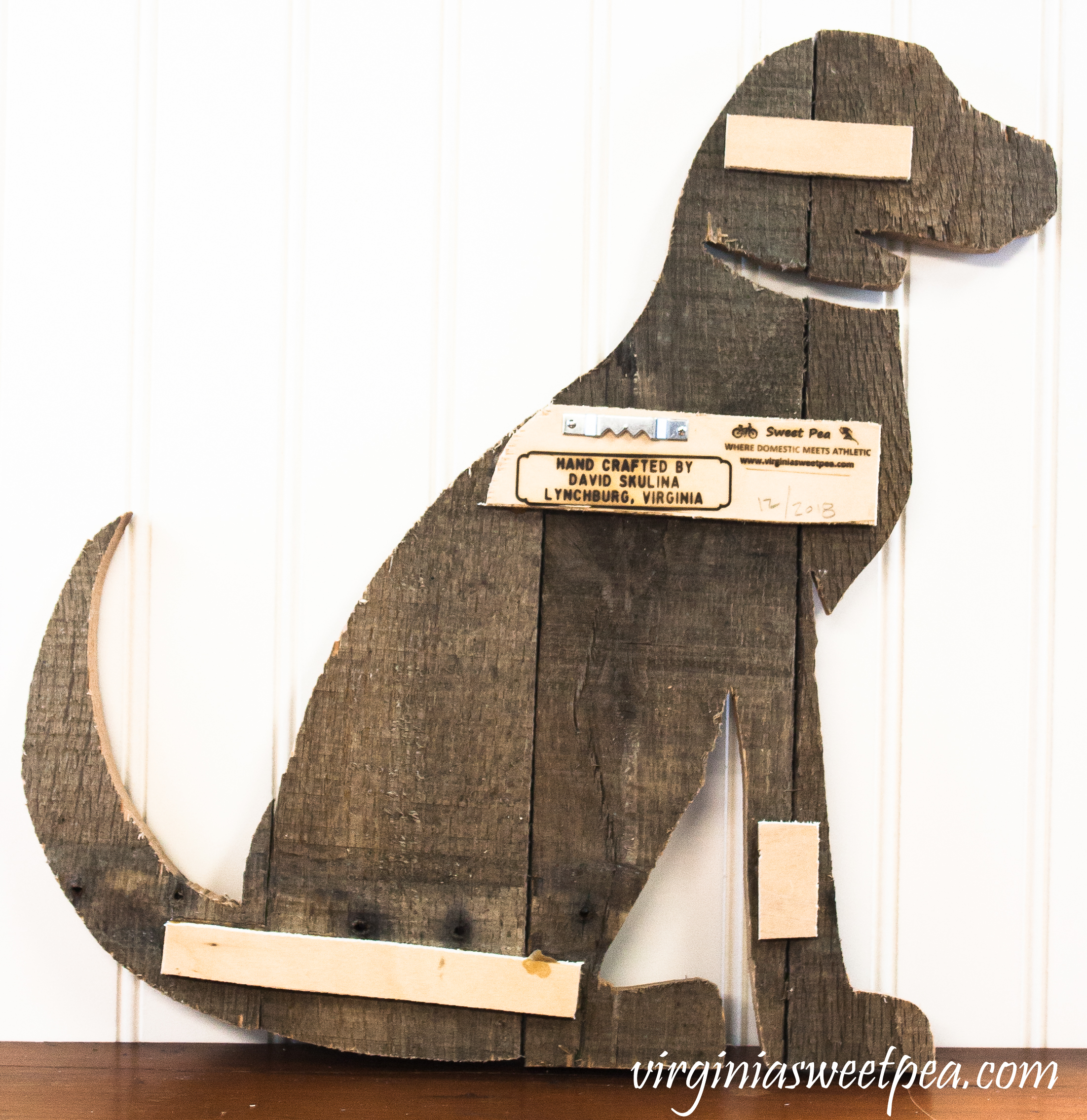 Dog made from pallet wood - Step-by-step tutorial