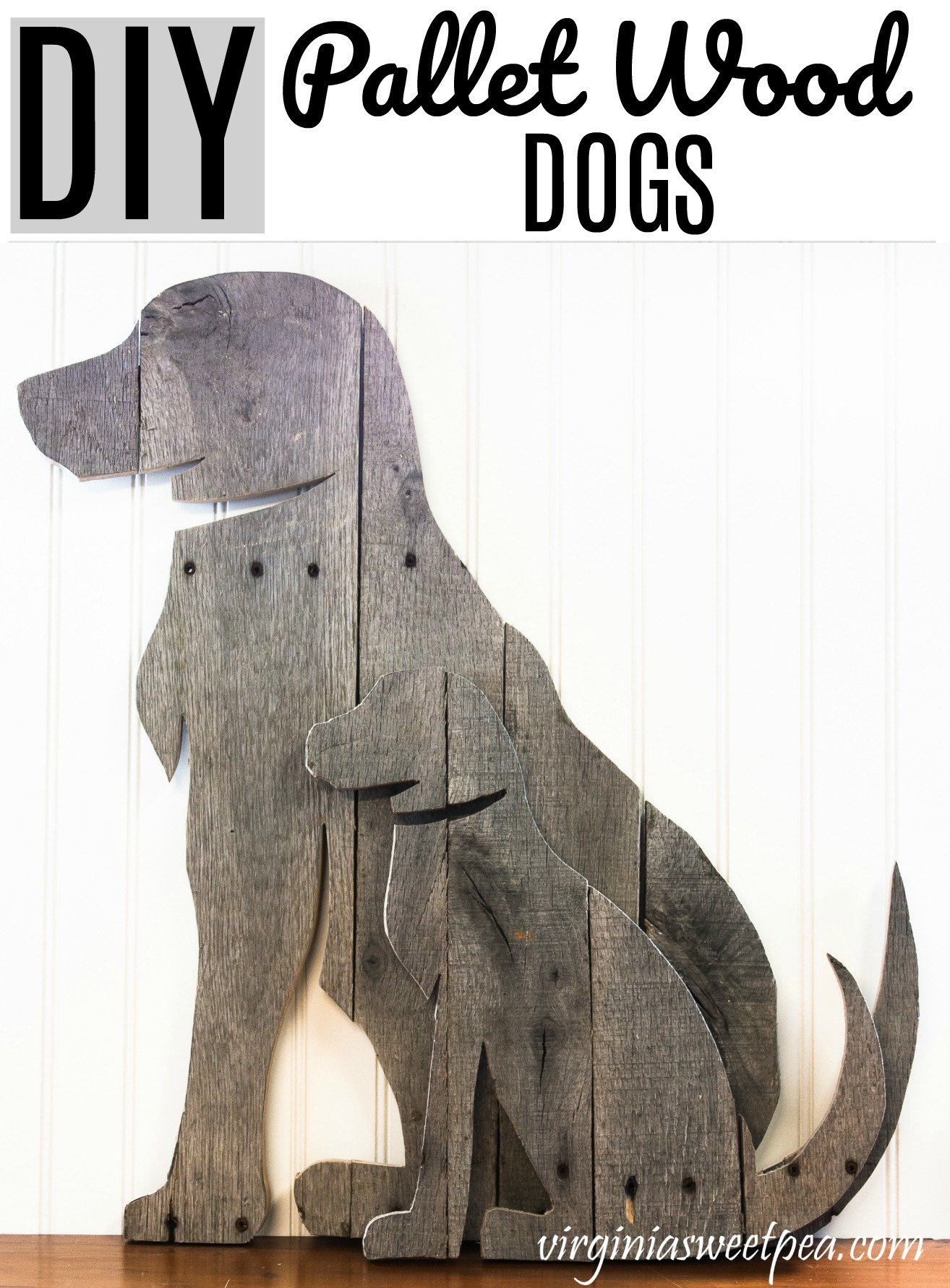 DIY Pallet Wood Dogs - Make decorative dogs using pallet wood. This step-by-step tutorial shows you how.