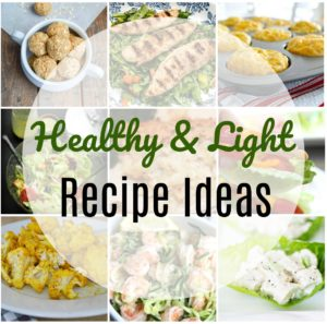 Light and Healthy Recipe Ideas - Get 12 recipes that are low in calories and healthy for you but also taste great.