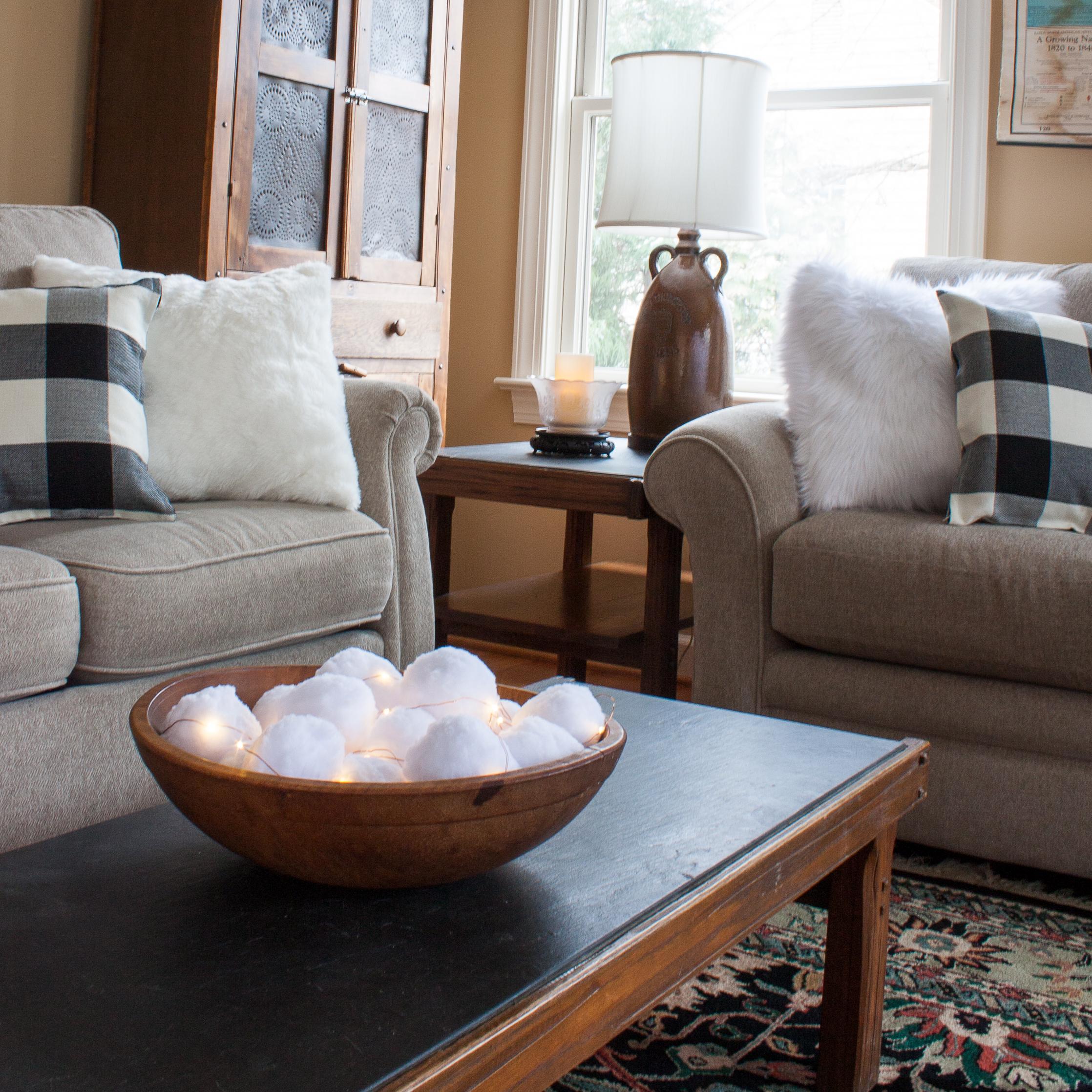 Cozy Winter Family Room Sweet Pea