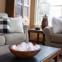 Cozy Winter Family Room