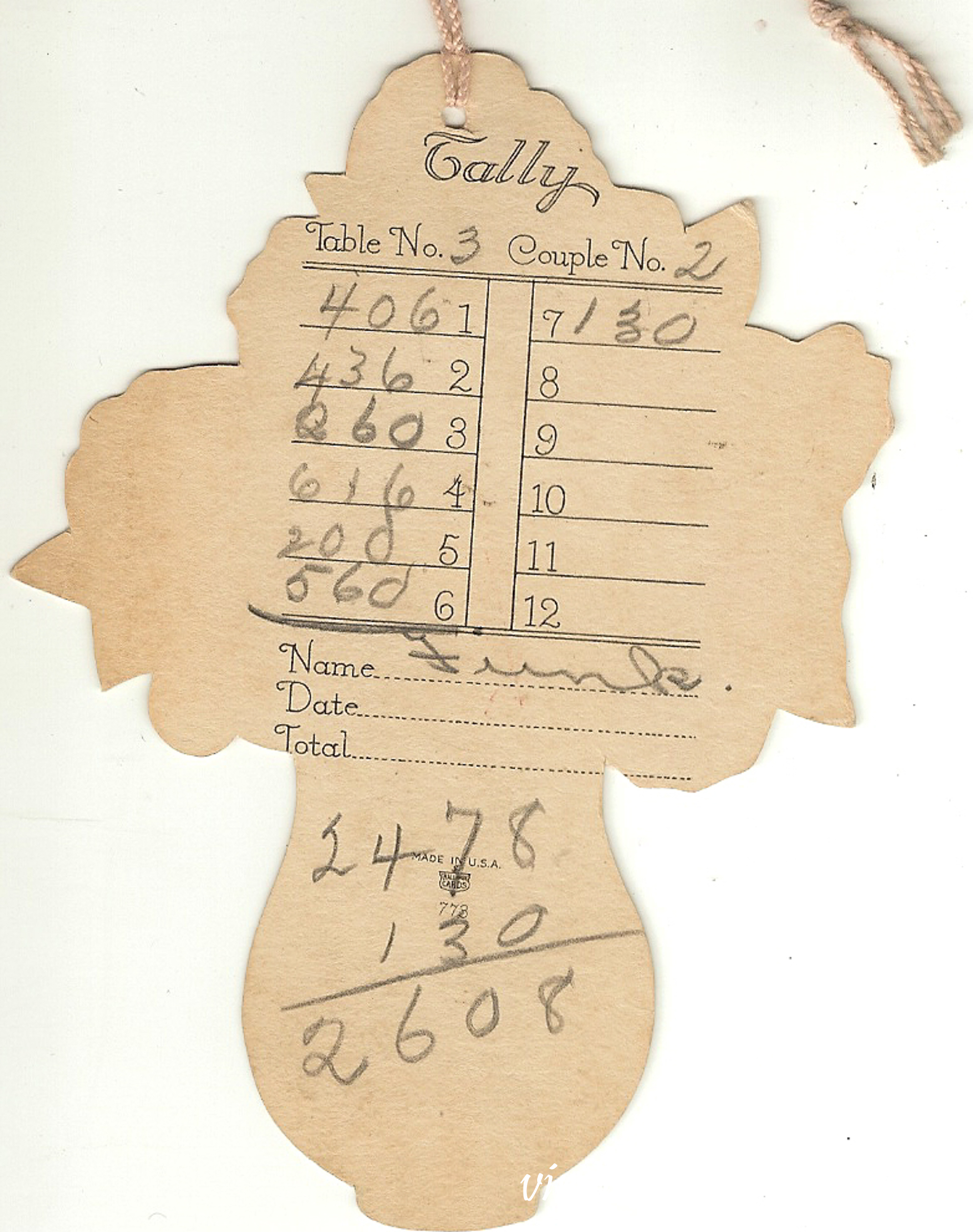 Vintage Bridge Tally Card #vintage #artdeco #bridge #bridgetallycard #vintagebridgetally