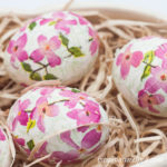 Decoupaged Floral Easter Eggs